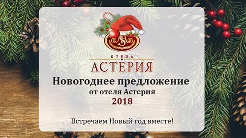 Встреча Нового года 2018 с гостиницей Астерия